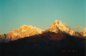 Sunrise over Annapurna mounatin range from Poon Hill