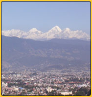 Vie of Kathmandu valley in a clear day